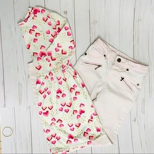 Girls Pants Top 6 6X Pink Outfit
